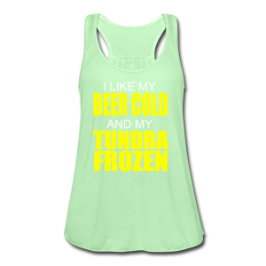 Beer Cold & Tundra Frozen  - Women's Flowy Tank Top by Bella