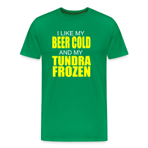 Beer Cold & Tundra Frozen  - Men's Premium T-Shirt