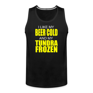 Beer Cold & Tundra Frozen  - Men's Premium Tank