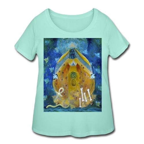 The Cosmic Shakti, Men's Tie Dye T-shirt - Women's Curvy T-Shirt
