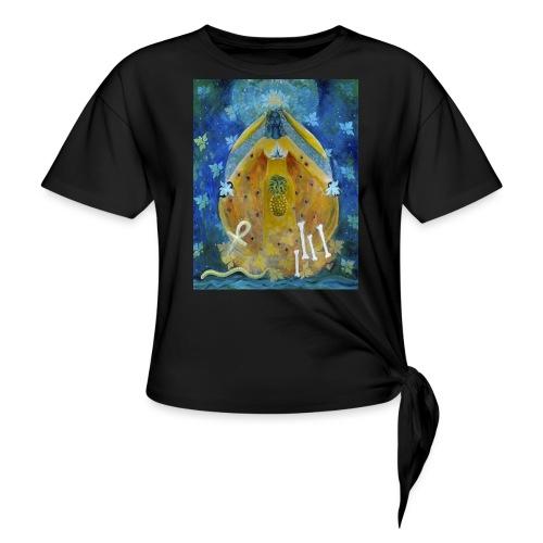 The Cosmic Shakti, Men's Tie Dye T-shirt - Women's Knotted T-Shirt