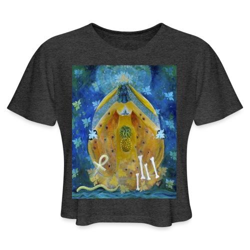 The Cosmic Shakti, Men's Tie Dye T-shirt - Women's Cropped T-Shirt