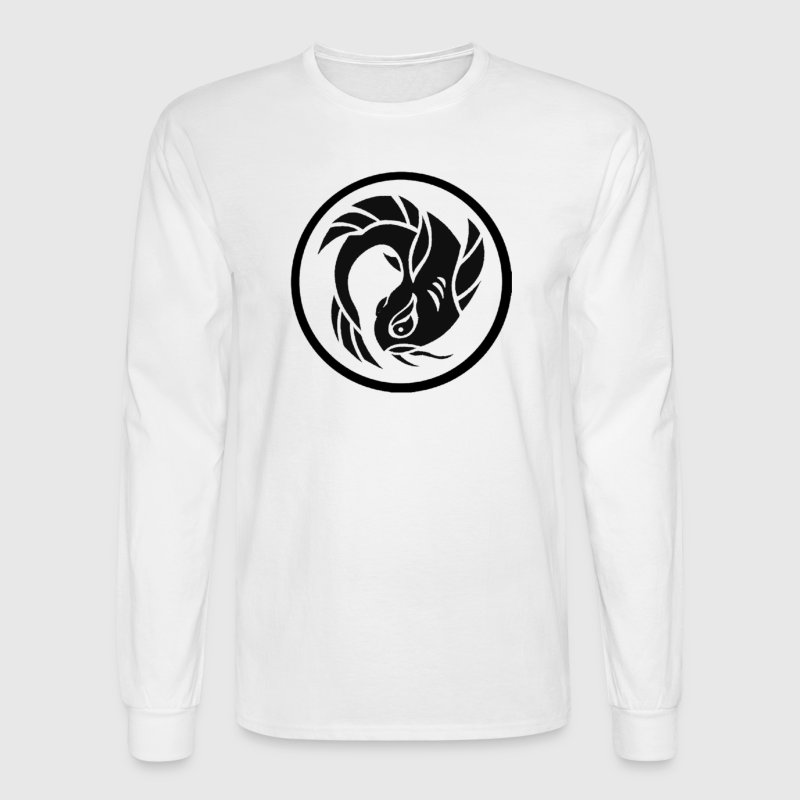 Circle Koi Fish Logo Long Sleeve Shirts - Men's Long Sleeve T-Shirt