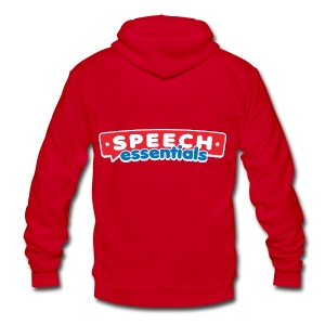 Speech Essentials - Unisex Fleece Zip Hoodie by American Apparel