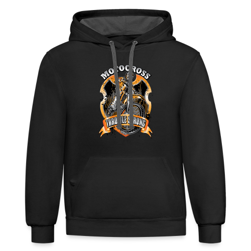 Throttle Strong Motocross - Contrast Hoodie