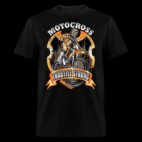 Throttle Strong Motocross - Men's T-Shirt