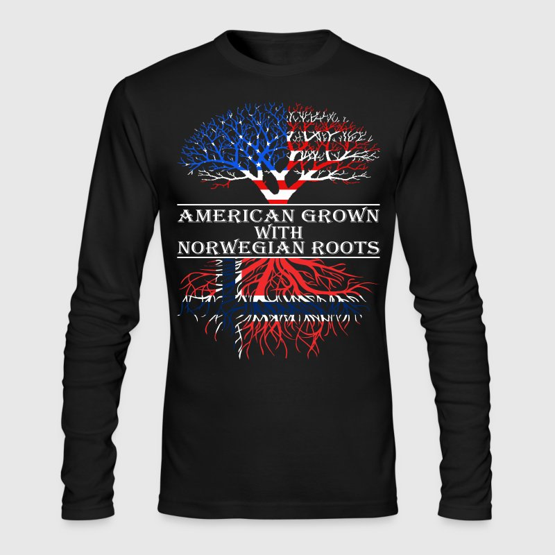 American Grown With Norwegian Roots - Men's Long Sleeve T-Shirt by Next Level