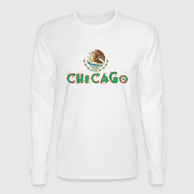 Chicago Mexican Flag Long Sleeve Shirts - Men's Long Sleeve T-Shirt