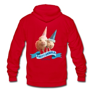 Toddler Party Animals - Unisex Fleece Zip Hoodie by American Apparel