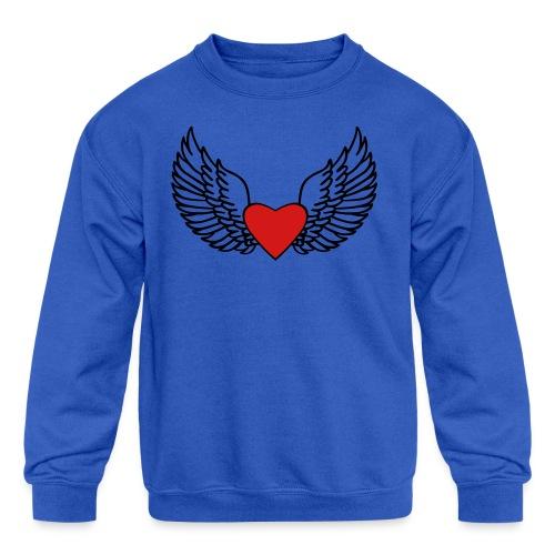 Winged Love - Kids' Crewneck Sweatshirt