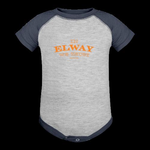 In Elway We Trust - Mens - T-Shirt - OP - Contrast Baby Bodysuit