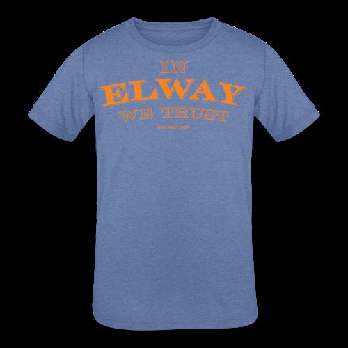 In Elway We Trust - Mens - T-Shirt - OP - Kids' Tri-Blend T-Shirt