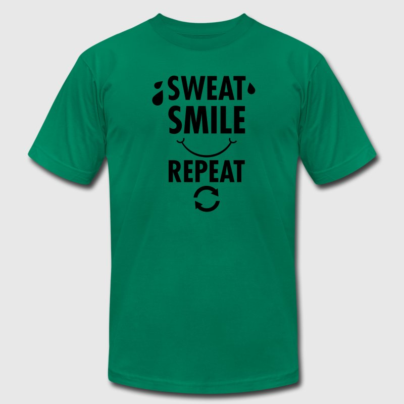 Sweat, Smile, Repeat T-Shirts - Men's T-Shirt by American Apparel