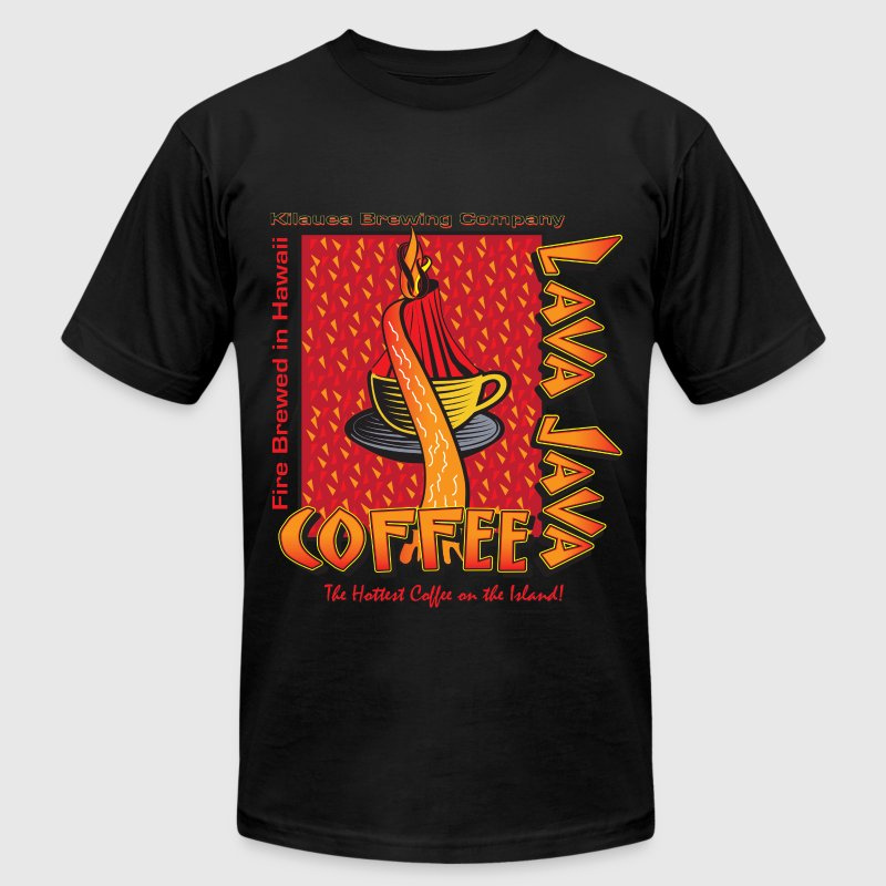 Lava Lava Coffee - Men's T-Shirt by American Apparel