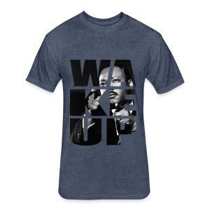 WAKE UP KING - Fitted Cotton/Poly T-Shirt by Next Level