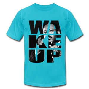 WAKE UP KING - Men's T-Shirt by American Apparel
