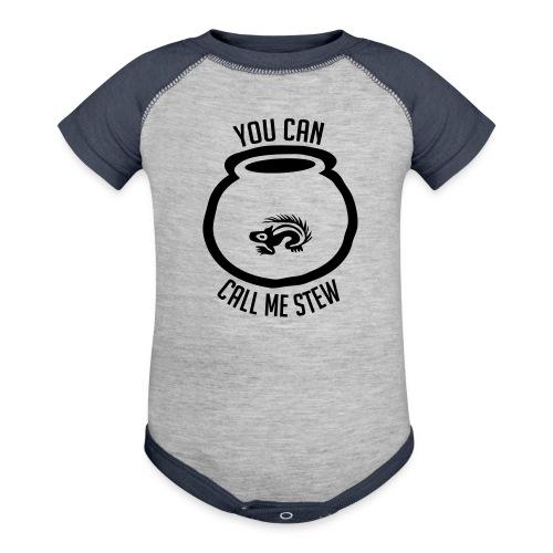 Unisex Shirt w/white print - Contrast Baby Bodysuit
