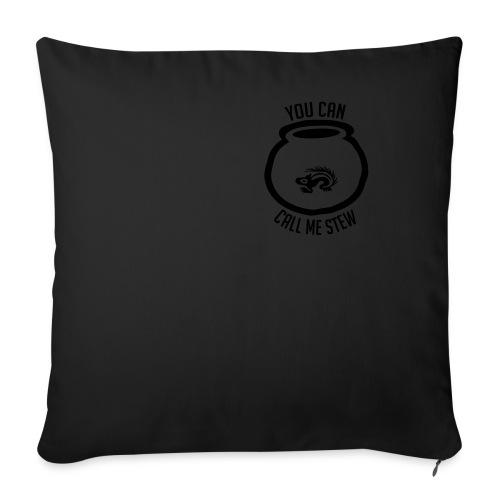 Unisex Shirt w/white print - Throw Pillow Cover