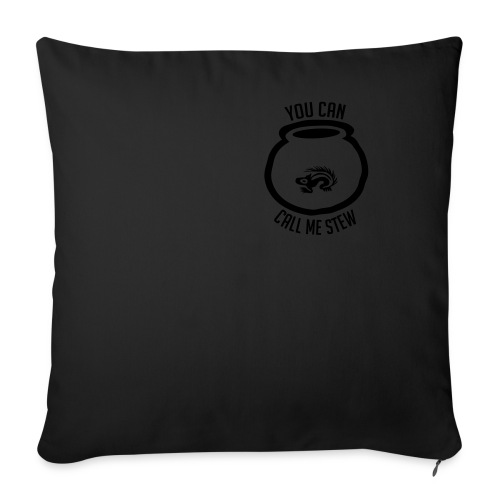 Unisex Shirt w/white print - Throw Pillow Cover