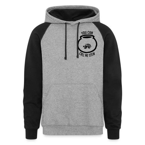 Unisex Shirt w/white print - Colorblock Hoodie