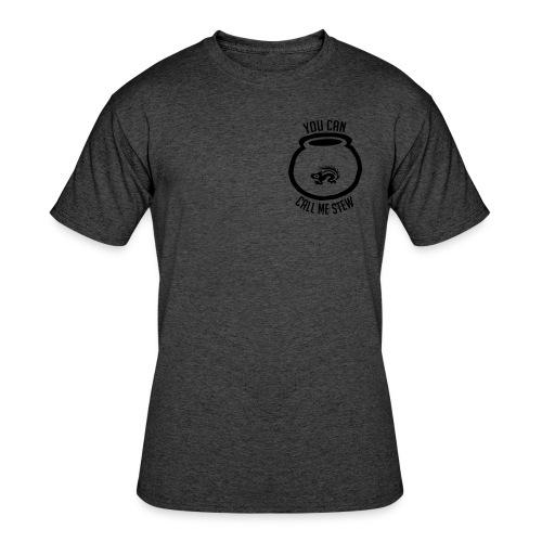 Unisex Shirt w/white print - Men's 50/50 T-Shirt