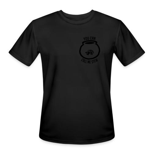 Unisex Shirt w/white print - Men's Moisture Wicking Performance T-Shirt