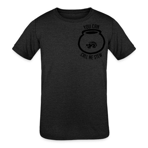 Unisex Shirt w/white print - Kids' Tri-Blend T-Shirt