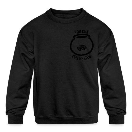 Unisex Shirt w/white print - Kids' Crewneck Sweatshirt