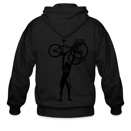 Unisex Shirt w/white print - Men's Zip Hoodie
