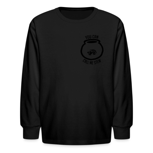 Unisex Shirt w/white print - Kids' Long Sleeve T-Shirt