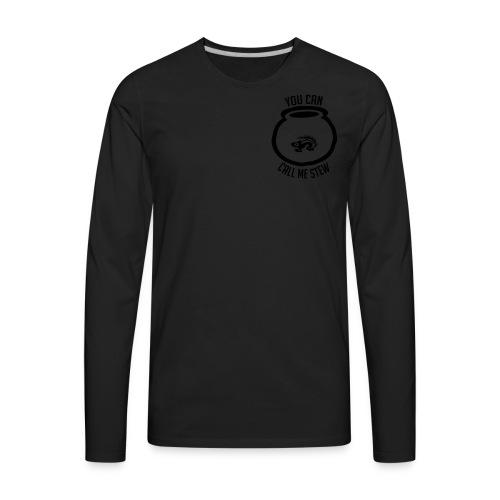 Unisex Shirt w/white print - Men's Premium Long Sleeve T-Shirt