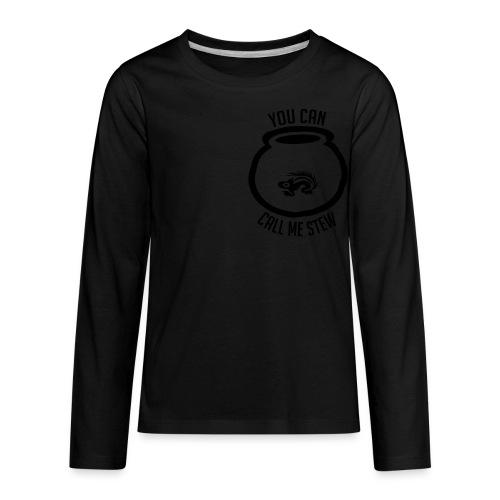 Unisex Shirt w/white print - Kids' Premium Long Sleeve T-Shirt