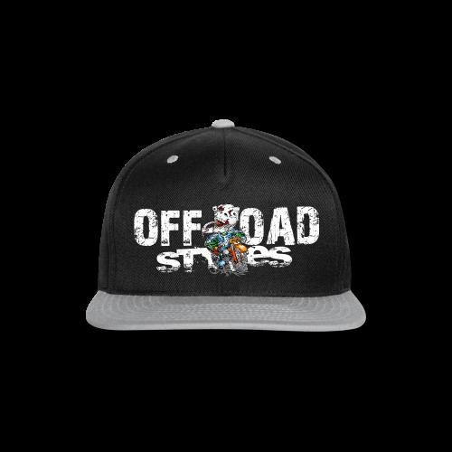 Skull Tongued DirtBiker BACK - Snap-back Baseball Cap