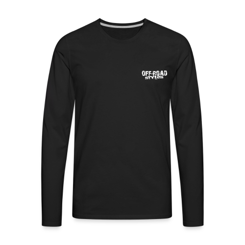 Skull Tongued DirtBiker BACK - Men's Premium Long Sleeve T-Shirt