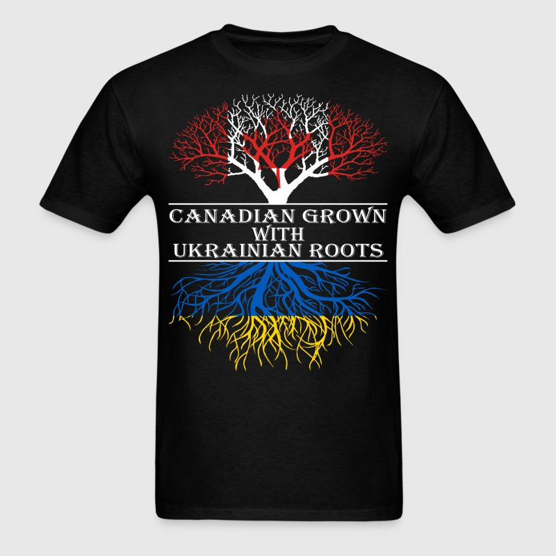 Canadian Grown With Ukrainian Roots - Men's T-Shirt