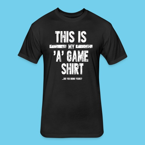 'A' Game shirt- Men's LS Tee - Fitted Cotton/Poly T-Shirt by Next Level