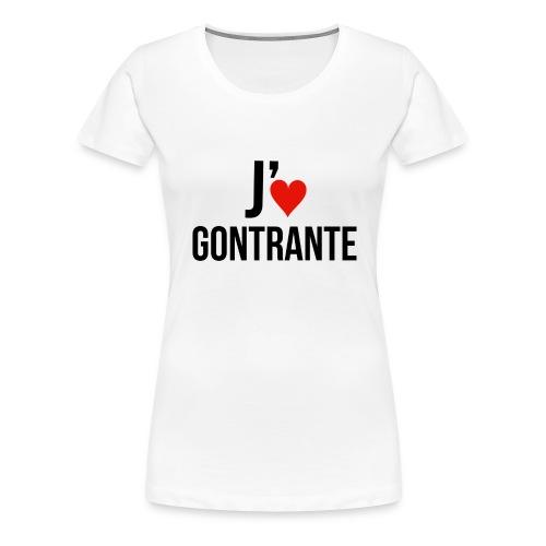 Moi j'♥ Gontrante (Femmes) - T-shirt premium pour femmes