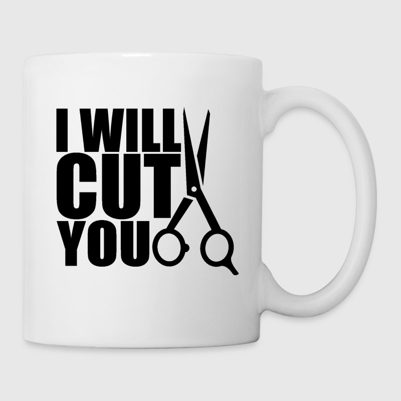 Hair Stylist Travel Mug - I Will Cut You - Coffee/Tea Mug