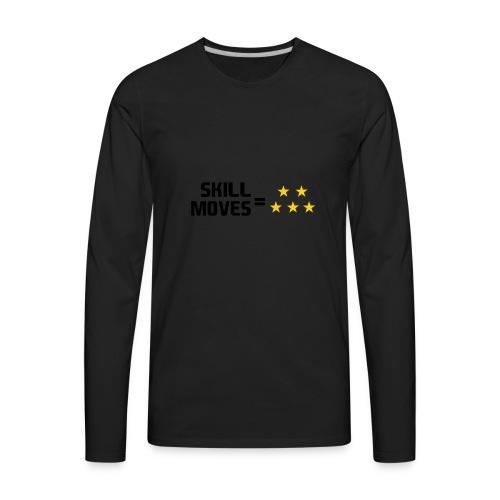 Skill Moves = 5 Stars | Snapback - Men's Premium Long Sleeve T-Shirt