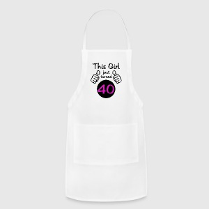 This Girl Turned 40 (Birthday) - Adjustable Apron