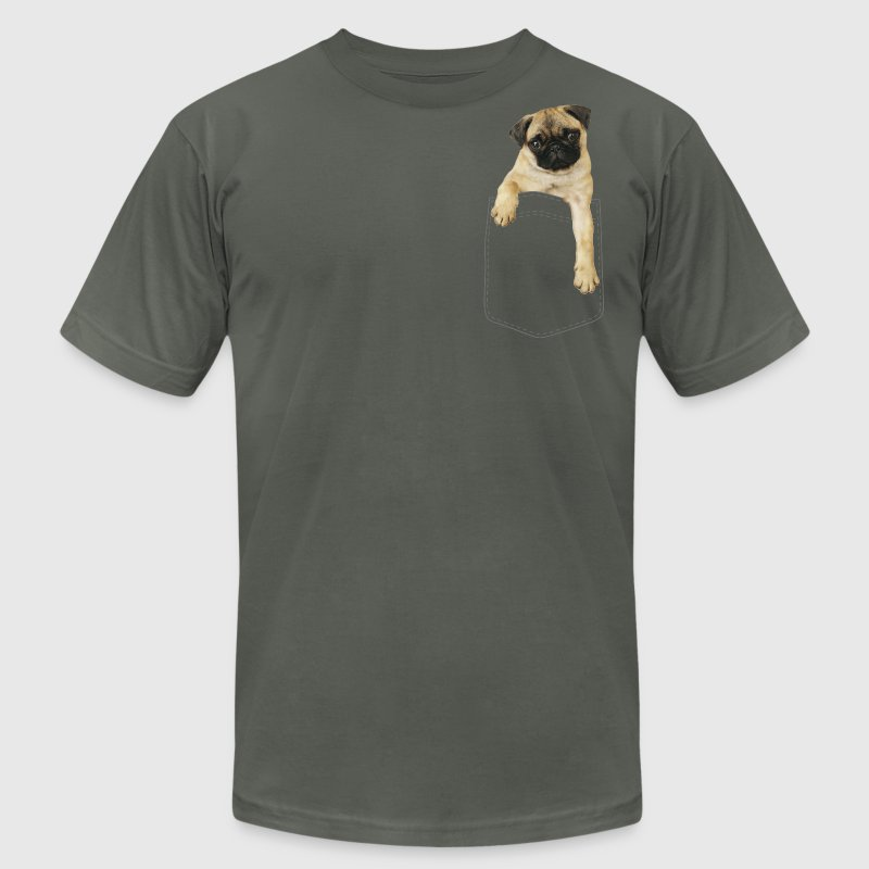 Dog in pocket T-Shirts - Men's T-Shirt by American Apparel