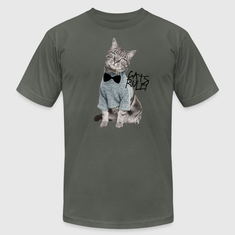 Cats Rule! T-Shirts - Men's T-Shirt by American Apparel