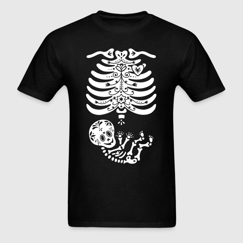 Sugar Skull Maternity Skeleton Skelly Baby T-Shirts - Men's T-Shirt