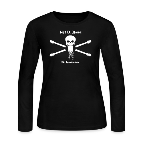 Jeff D. Band Tall Sized T-Shirt (m) - Women's Long Sleeve Jersey T-Shirt