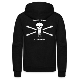 Jeff D. Band Tall Sized T-Shirt (m) - Unisex Fleece Zip Hoodie by American Apparel