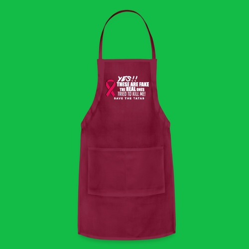 Yes, these are fake!  The real ones tried to kill me! - Adjustable Apron