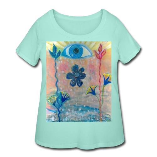 The Eye of Wisdom, Men's Tie Dye T-shirt - Women's Curvy T-Shirt