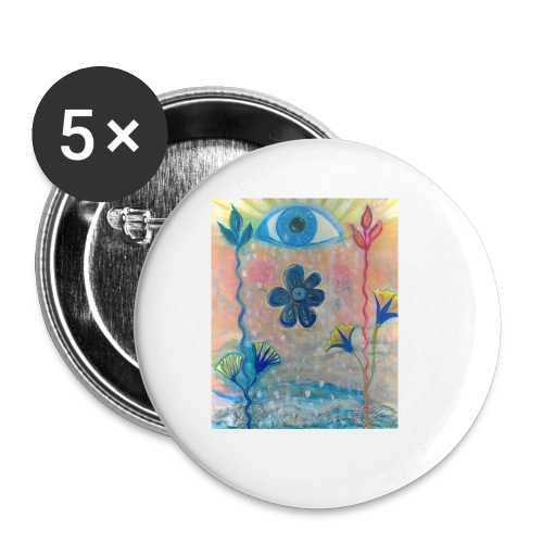 The Eye of Wisdom, Men's Tie Dye T-shirt - Buttons small 1'' (5-pack)