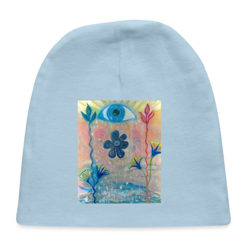The Eye of Wisdom, Men's Tie Dye T-shirt - Baby Cap