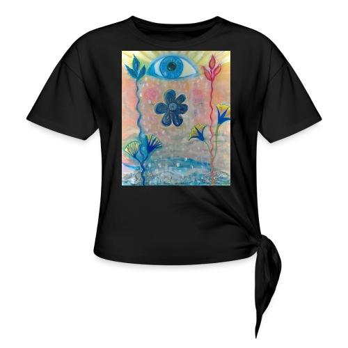 The Eye of Wisdom, Men's Tie Dye T-shirt - Women's Knotted T-Shirt